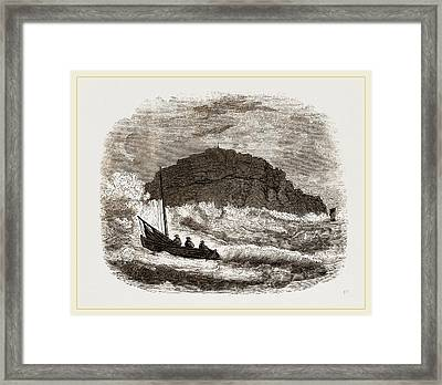 Trawling For Red Mullet Off St Framed Print