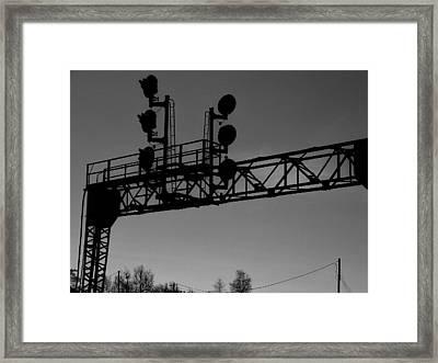 Trax Framed Print