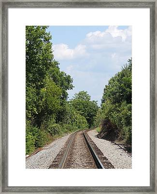 Traxs To Anywhere Framed Print by Aaron Martens