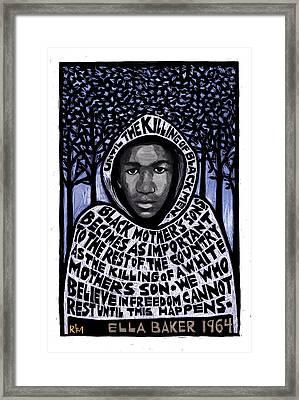 Trayvon Martin Framed Print