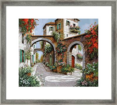 Tre Archi Framed Print by Guido Borelli