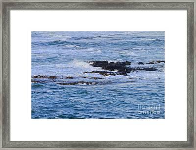 Treacherous Shorebreak Framed Print by Mary Deal