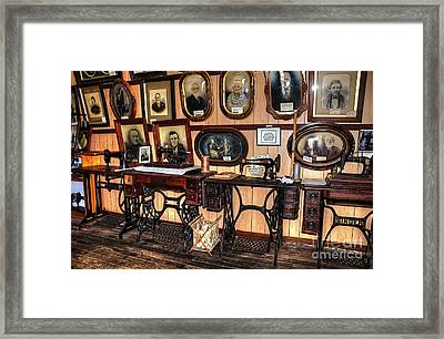 Treadle Sewing Machines Framed Print by Kaye Menner