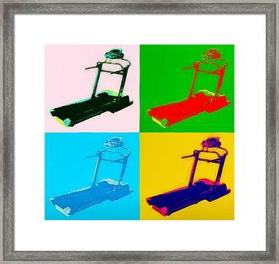 Treadmill Pop Art Framed Print by Dan Sproul