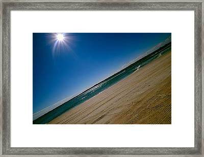 Framed Print featuring the photograph Treads In The Sand by DigiArt Diaries by Vicky B Fuller