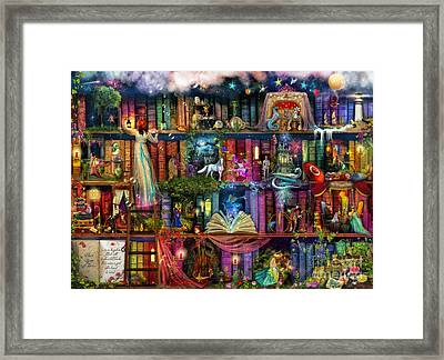 Fairytale Treasure Hunt Book Shelf Framed Print by Aimee Stewart