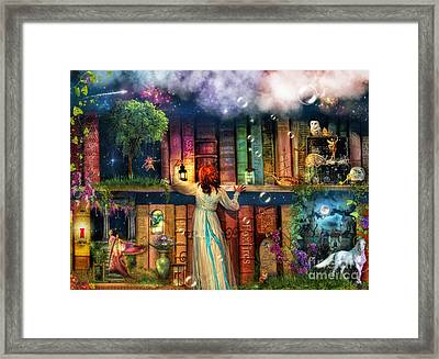 Fairytale Treasure Hunt Book Shelf Variant 2 Framed Print by Aimee Stewart