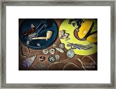 Treasure Hunter - Metal Detecting Framed Print