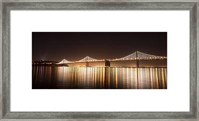 Treasure Island Bay Lights Framed Print