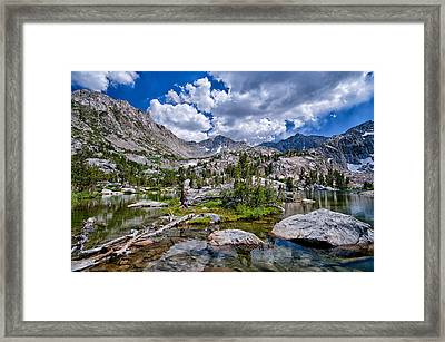Treasure Lakes Framed Print by Cat Connor
