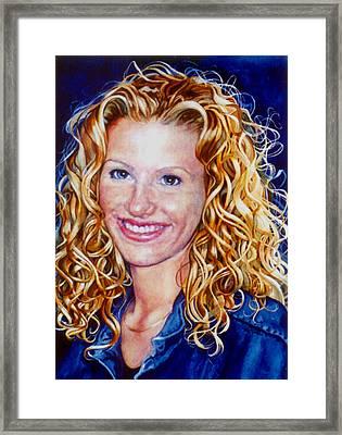Treasured Daughter Framed Print