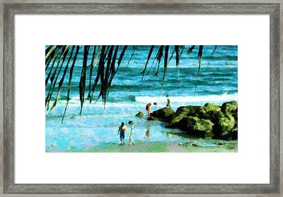 Treasures At The Jetty Framed Print