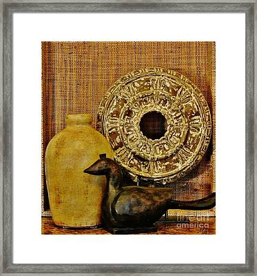 Treasures From Travels Framed Print by Marsha Heiken