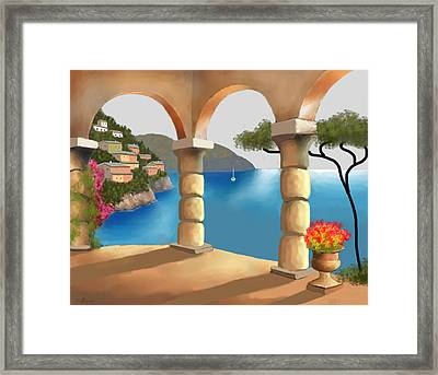 Treasures Of Amalfi Framed Print by Larry Cirigliano