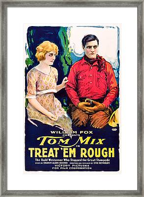 Treat Em Rough, From Left Jane Novak Framed Print by Everett