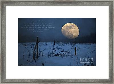 Treat The Earth Well - Ancient Indian Proverb Framed Print