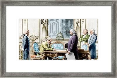 Treaty Of Amity Between U.s Framed Print