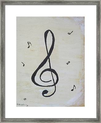 Framed Print featuring the painting Treble Cleft by Martin Blakeley