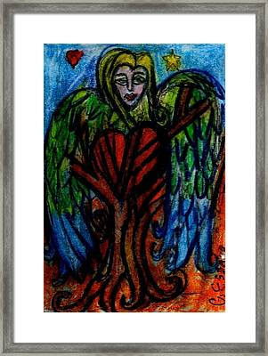 Tree Angel Framed Print by Genevieve Esson