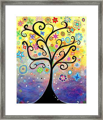 Tree Art Fantasy Abstract Framed Print by Bob Baker and Pooki Lee