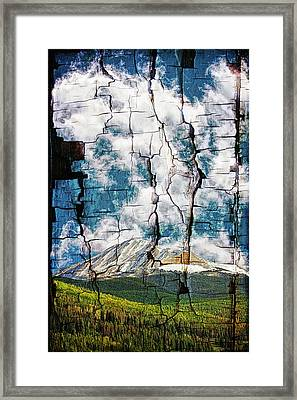 Tree Bark Mountain Tapestry Framed Print