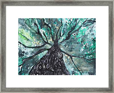 Tree Branches Above Framed Print by Tara Thelen