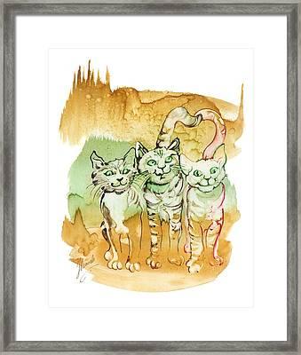 Tree Brothers  Framed Print by Anna Ewa Miarczynska