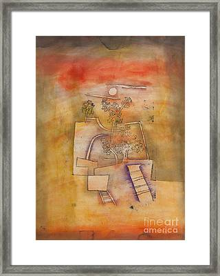 Tree Culture By Paul Klee Framed Print by Roberto Morgenthaler