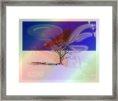 Tree Cut Framed Print