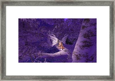 Tree Fairy In Snow Framed Print