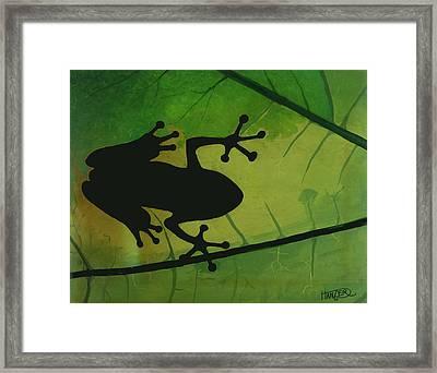 Tree Frog Framed Print by Jack Hanzer Susco