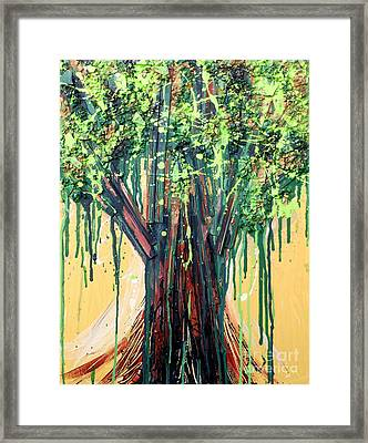 Tree Grit Framed Print by Genevieve Esson