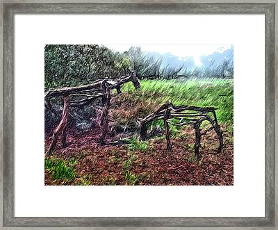 Tree Horse Framed Print