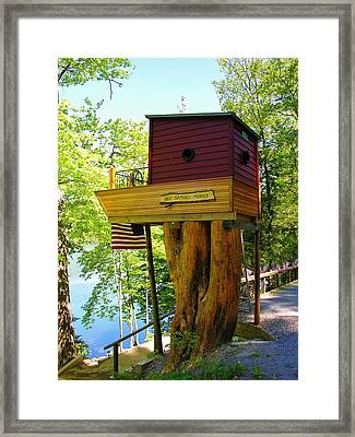Framed Print featuring the photograph Tree House Boat by Sherman Perry