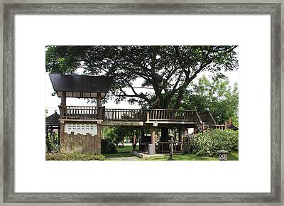 Framed Print featuring the photograph Tree House by Cyril Maza