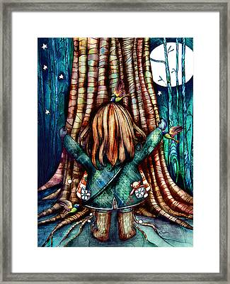 Tree Hugs Framed Print by Karin Taylor