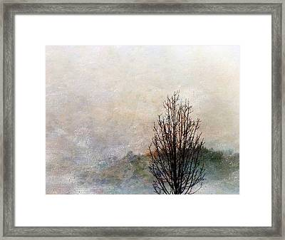 Framed Print featuring the digital art Tree Impression by Bruce Rolff