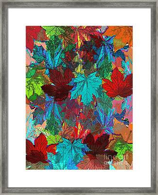 Tree Leaves Framed Print by Klara Acel