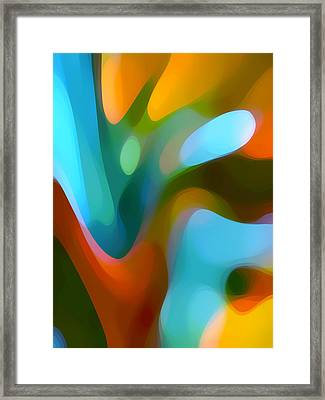 Tree Light 3 Framed Print
