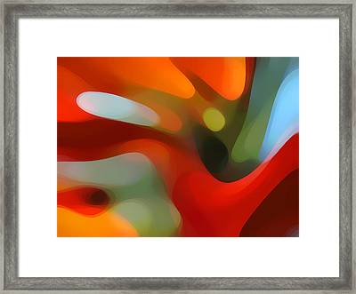 Tree Light 4 Framed Print by Amy Vangsgard