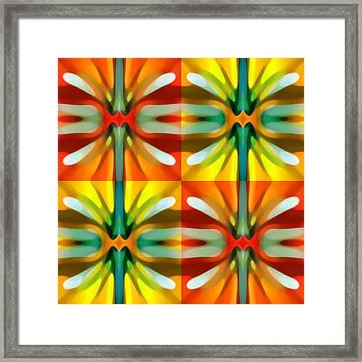 Tree Light Square Pattern Framed Print by Amy Vangsgard