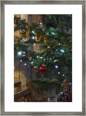 Tree Lights And Baubles Framed Print by Ian Mitchell