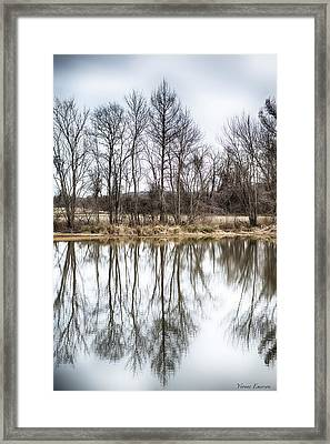 Framed Print featuring the photograph Tree Line In Winter  by Yvonne Emerson AKA RavenSoul