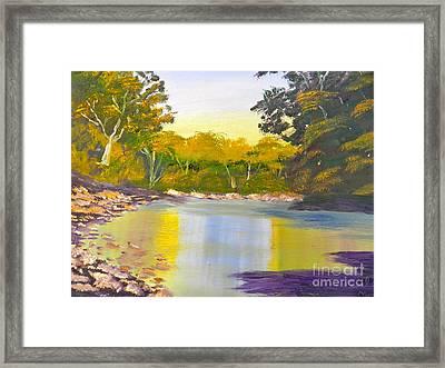 Tree Lined River Framed Print