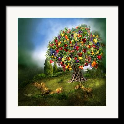 Fruit Tree Mixed Media Framed Prints