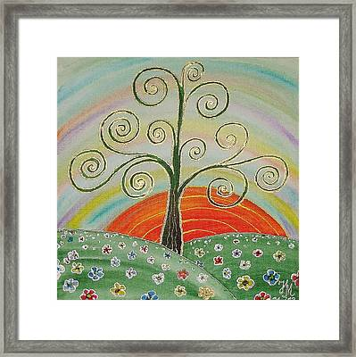 Tree Of Happiness Framed Print