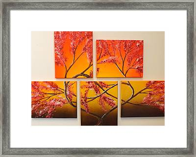 Tree Of Infinite Love Framed Print by Darren Robinson