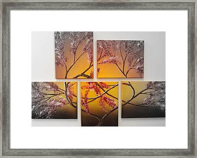 Tree Of Infinite Love Spotlighted Framed Print