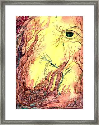 Framed Print featuring the painting Tree Of Knowledge by Mikhail Savchenko