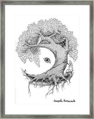 Tree Of Life Framed Print by Angela Hedderick